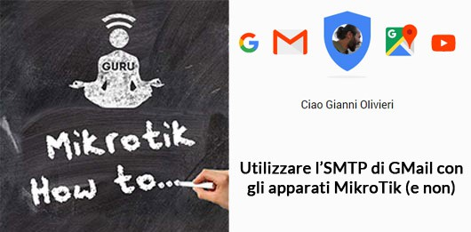 WirelessGuru Mikrotik utilizzare SMTP GMail